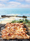 Barbecue sul mare Immagini Stock Libere da Diritti