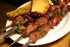 Barbecue sur des bâtons Photographie stock