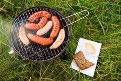 Barbecue sur l'herbe Photo stock