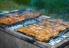 Barbecue sur le gril Photo libre de droits