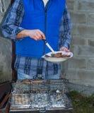 Barbecue sur le gril Image stock