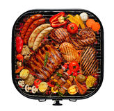 Barbecue sur le gril Image libre de droits