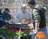 barbecue surową ulicę Zdjęcia Stock