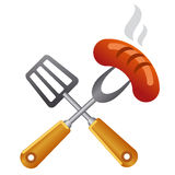 Barbecue symbol Royalty Free Stock Photo