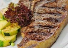 Barbecue T Bone steak close up stock images