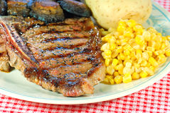 Barbecue T Bone steak close up stock photography
