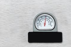 Barbecue temperature gauge Stock Image