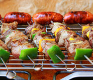Barbecue on  terrace Stock Photography