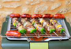 Barbecue on  terrace Royalty Free Stock Images