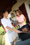 Barbecue time for summer lunch Royalty Free Stock Photography