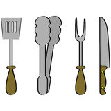 Barbecue tools Royalty Free Stock Image