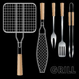 Barbecue tools Royalty Free Stock Photos