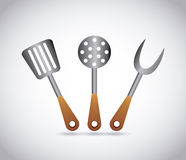 Barbecue tools Stock Photo