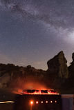 Barbecue under the night sky Royalty Free Stock Image