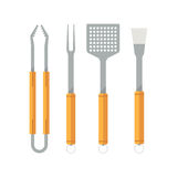 Barbecue Utensils Icons. Barbecue utensils set. BBQ tools vector icons. Barbeque equipment collection Royalty Free Stock Photography