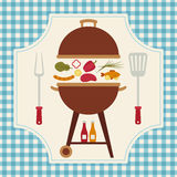 Barbecue vector illustration Royalty Free Stock Photos