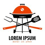 Barbecue vector logo design template. Grill or Royalty Free Stock Photo