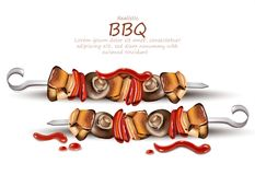 Barbecue Vector realistic. Label template design. product placement mock ups. Barbecue Vector realistic. Label template design. product placement mock up Royalty Free Stock Images