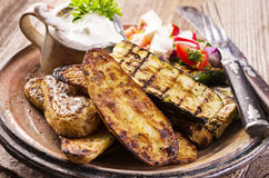 Barbecue Vegetable and Potatoes Royalty Free Stock Images
