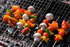 Barbecue Vegetables Stock Photography