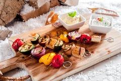 Barbecue vegetariano delizioso di inverno Immagine Stock Libera da Diritti