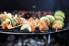 Barbecue view Stock Images