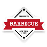 Barbecue vintage label sign. Vector Royalty Free Stock Photo