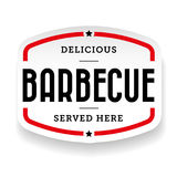 Barbecue vintage label sign. Vector Stock Photos