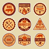 Barbecue Vintage Style Emblems Royalty Free Stock Images