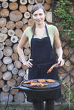 Barbecue woman Royalty Free Stock Image