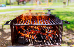 barbecue wood fire texture  bonfire embers Royalty Free Stock Image