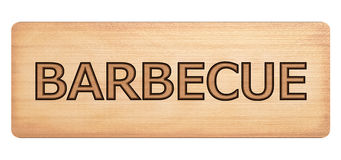 Barbecue wooden banner Stock Photo