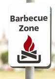 Barbecue Zone sign Stock Image