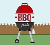 Barbecuebbq het concept van de partijuitnodiging Stock Afbeeldingen