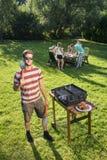 Barbecuechef-kok stock foto's