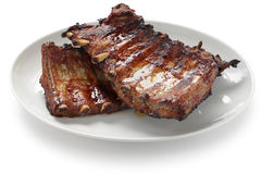 Barbecued нервюры свинины запасные Стоковое Фото
