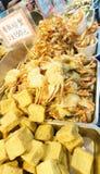barbecued ноча taiwan рынка еды Стоковые Изображения RF