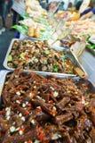 barbecued ноча taiwan рынка еды Стоковые Фотографии RF