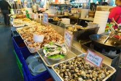 barbecued ноча taiwan рынка еды Стоковое Изображение