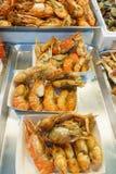 barbecued ноча taiwan рынка еды Стоковое Фото