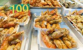 barbecued ноча taiwan рынка еды Стоковые Фото