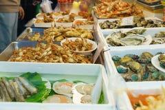 barbecued ноча taiwan рынка еды Стоковые Изображения