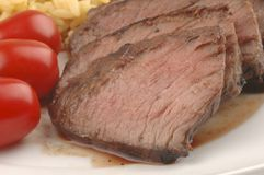 Barbecued стейк стоковое изображение rf