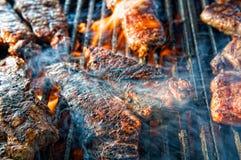 barbecued стейк стоковое фото rf