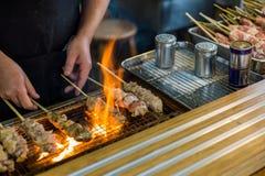 Barbecued цыпленок/Yakitori/японская еда Стоковое Фото