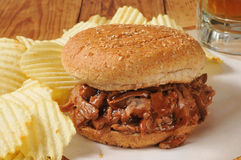 Barbecued beef sandwich Royalty Free Stock Photos