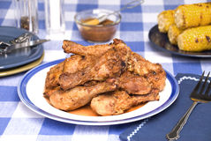 Barbecued chicken legs Royalty Free Stock Images