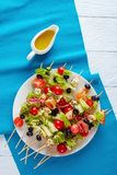 Skewers with vegetables, meat and cheese royalty free stock images