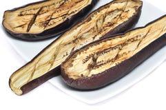 Barbecued eggplants Stock Photo