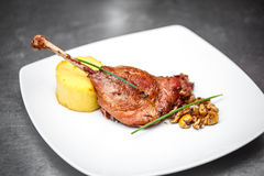 Barbecued goose leg Royalty Free Stock Photography